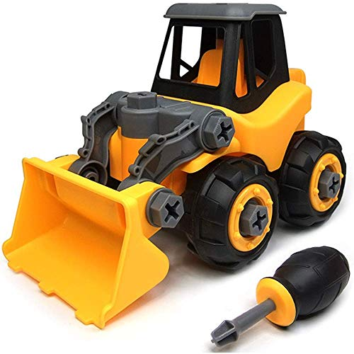 Ucradle Take Apart Toys, Toy Vehicles, Assembly Toy Bulldozer Constructions Set, Building Vehicle Play Set Screwdriver, Ideal Educational Toy Toddlers, Boys & Girls Aged 3, 4, 5, 6