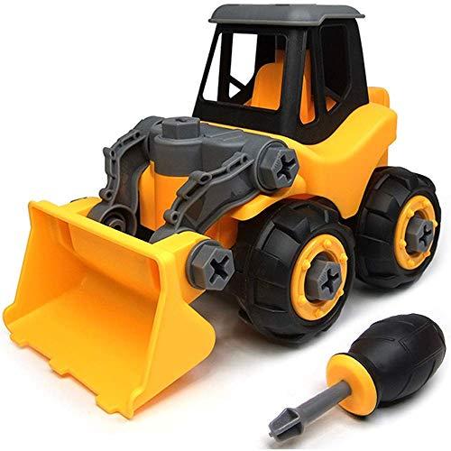 Ucradle Montage Bulldozer Spielzeug - Spielzeugbulldozer mit Schraubenzieher, Super Spaß beim Zusammenbauen und Schrauben, Ideale Lernspielzeug für 3 Jährige Kinder Mädchen Jungen