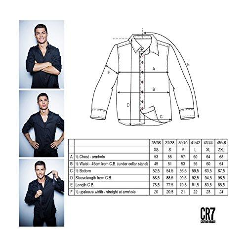 CR7CRISTIANO RONALDO camicia da uomo CR7maglietta Classic fit, Uomo, Hemd CR7 Shirt Classic fit, blu navy, XS blu navy