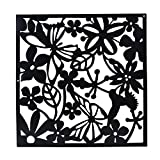 Magideal 4x Butterfly Flower Hanging Screen Curtain Room Divider Partition Wall Black