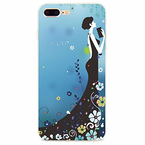 Coque iPhone 7 Plus, Vanki® Absorption des chocs Ultra Mince TPU Bumper Protection Goutte,aux rayures pour iPhone 7 Plus-Fashion girl 11