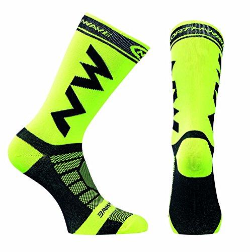Northwave Extreme Light Pro Gelb Fahrradsocken, MTB Mountainbike Socken (S (36-39)) -