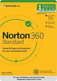 Norton 360 Standard |1 User 3 Years|Total Security for PC, Mac, Android or iOS |Code emailed in 2 Hrs