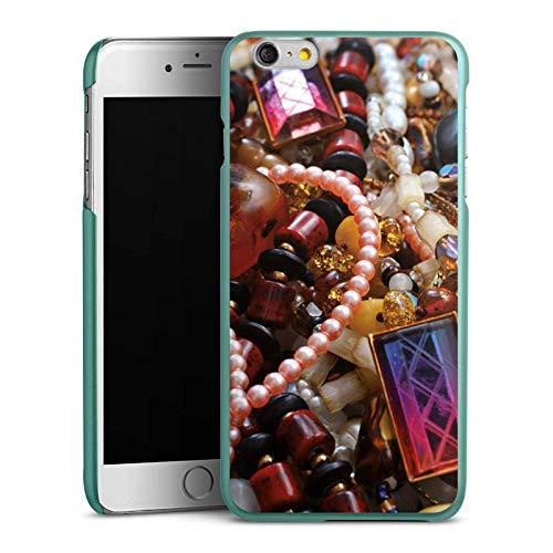 DeinDesign Hülle kompatibel mit Apple iPhone 6 Plus Handyhülle Case Schmuck Juwelen Perlen