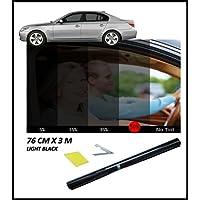 ANTI-SCRATCH PROFESSIONAL CAR WINDOW TINT FILM TINTING LIGHT BLACK SMOKE 50% 76cm x 3M NEW
