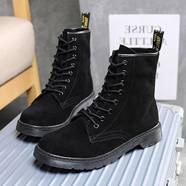 HL-PYL-Martin bottes bottes chaudes All-Match Coréen Scrub Scrub Scrub High Boots fils,40,Black 8298bc