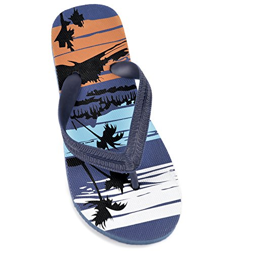 BOYS BEACH PRINT FLIP FLOP NAVY 2/3