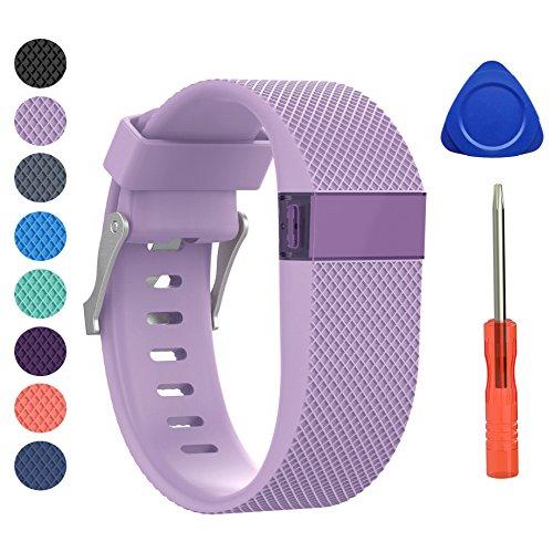 Fitbit Charge HR Bracelet, BeneStellar remplacement bracelets pour accessories de Fitbit Charge HR (Lavender, Grand)