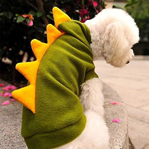 Kostüm Muster Dinosaurier - Yslin Kleidung Vest Regenjacken Kimballkq Warme Haustierkleidung Hundebekleidung Baumwolle Herbst und Winter Kleine Hunde Welpen Dinosaurier Kostüm Hoodie Small Muster Warme
