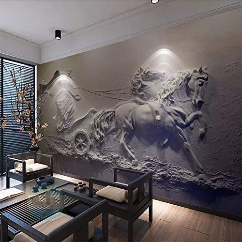 Fototapete 3D Tapete Dreidimensionale Engelswagenentlastung3D Effekt Vliestapete Wandbilder Wanddeko