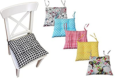 Comfortable Seat Pads, Garden Kitchen Dining Chair Cushions Many Designs Tie On - inexpensive UK light shop.
