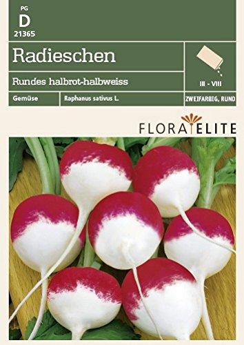 Flora Elite 21365 Radieschen Rundes halbrot-halbweiss (Radieschensamen)