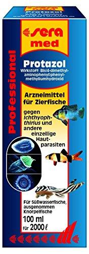 sera 02182 med Professional Protazol 100 ml - Arzneimittel für Zierfische gegen einzellige Hautparasiten, wie den Erreger der Pünktchenkrankheit