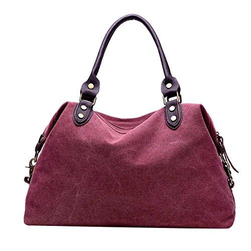 Frauen Casual Leinwand-Tasche Schultertasche Reisetasche B