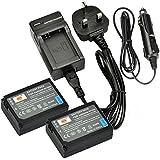 DSTE® 2x BP-1030 Rechargeable Li-ion Battery + DC124U Travel and Car Charger Adapter for Samsung NX200 NX210 NX300 NX300M NX500 NX1000 NX1100 NX2000 Digital Camera as BP1030 BP1130 ED-BP1030