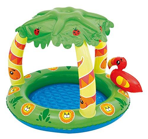 Bieco 22052179 - Kinder Pool mit Dach, Dschungel, ca. 99 x 71 x 91 cm