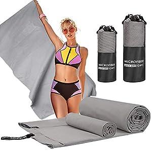 Nakeey Sport Schnelltrocknend Handtuch Mikrofaser Handtücher 2PCS Set für Sauna, Fitness, Sport, Strandtuch, Duschtücher…