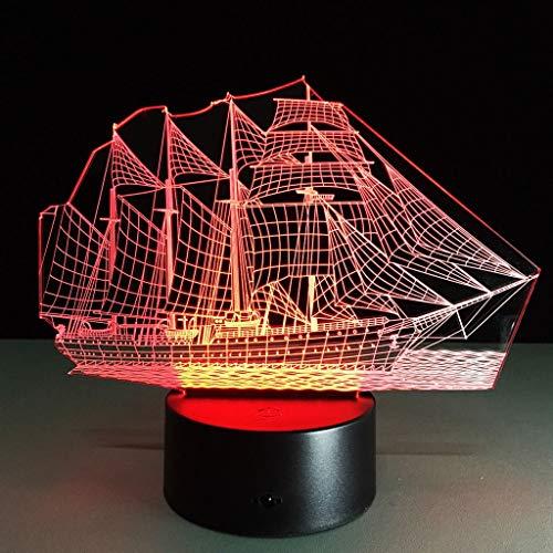 HYCy Smart Home 3D Bunte Nachtlichter Navigation Mode Geburtstag Party Atmosphauml;re Lampe Nachtlicht -