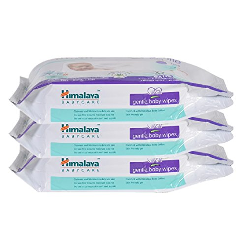 Himalaya Gentle Baby Wipes (72 Count, Pack of 3)