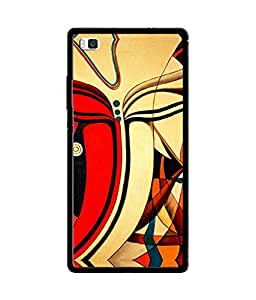 Chnno 2d GANESHA Printed Back Cover For Huawei P8