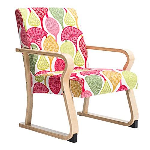 ERRU-Chaises Chaise à manger en bois massif de mode nordique / Étude de bureau ménager Chaises de table de café(54 * 74 * 86CM, couleur en option) ( Couleur : Couleur du bois , taille : 2 Pieces )