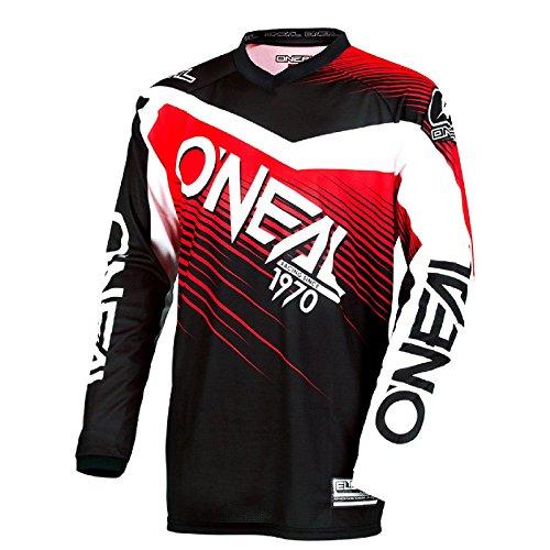 O'Neal Element Racewear MX Motocross Jersey Shirt Enduro Offroad Gelände Quad Cross Erwachsene, 0008, Farbe Rot, Größe L