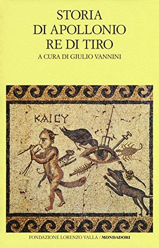 scaricare ebook gratis Storia di Apollonio re di Tiro. Testo latino a fronte PDF Epub