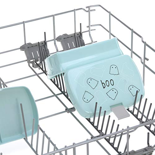 LÄSSIG Kinder Brotdose Lunchbox Snackbox spülmaschinengeeignet/Lunchbox Spooky aqua, grün
