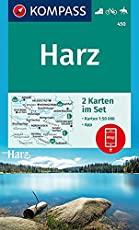 Harz: 2 Wanderkarten 1:50000 im Set inklusive Karte zur offline Verwendung in der KOMPASS-App. Fahrradfahren. Reiten. (KOMPASS-Wanderkarten, Band 450)