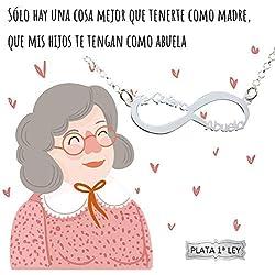 Collar infinito Te Quiero Abuela Plata de Ley 925 - Regalo para abuela