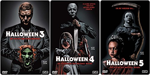(HALLOWEEN Edition Teil 3 4 5 Uncut 3D Lenticular Cover Limited STARMETALPACK / STEELBOOK Collection 3 DVD Neu)