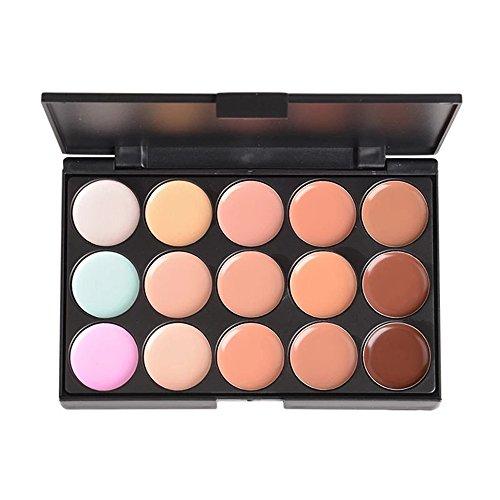 PhantomSky 15 Couleurs Palette de Maquillage Correcteur Camouflage Crème Cosmétique Set #1 - Parfait pour une utilisation professionnelle et quotidienne