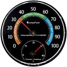Lantelme, 6717, temperatura e umidità dell' aria Coltello dispositivo combinato–Analog Termometro e igrometro colore nero