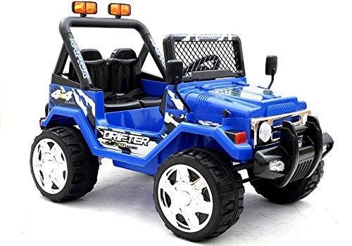 Elektro Kinderauto Elektrisch Ride On Kinderfahrzeug Elektroauto Fernbedienung - Raptor 2-Sitzer - Blau