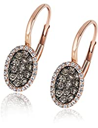 Goldmaid Damen-Ohrhänger Glamour Champagner 585 Rotgold 70 Diamanten 0,5 ct Brillanten Schmuck