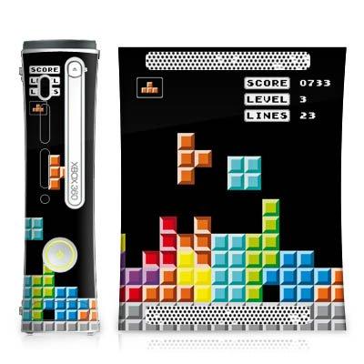 Microsoft Xbox 360 Design Skin Folie Aufkleber - 8-Bit - Xbox Tetris Spiele 360