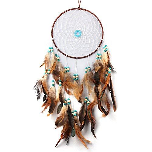 Acchiappasogni a rete con piume, realizzato a mano in stile tradizionale degli indiani d'America, decorazione da appendere alla parete o in auto, in vari stili, ottima idea regalo LD243 LD243