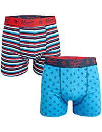 Original Penguin Mens Striped 2 Pack Boxer Shorts in Red