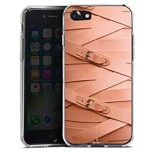 Apple iPhone X Silikon Hülle Case Schutzhülle Leder Fashion Schnallen Silikon Case transparent