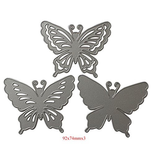 Lifet – Fustelle a Forma di Farfalla, per Scrapbooking, Album di Carta, Cartoline Artigianali, per Sizzix Big Shot/Cuttlebug/e Altre Macchine da Disegno - 4