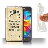 Stuff4® Gel TPU Hülle/Case für Samsung Galaxy Grand Prime/Dwell On Dreams Muster/Schule der Magie Film Zitate Kollektion