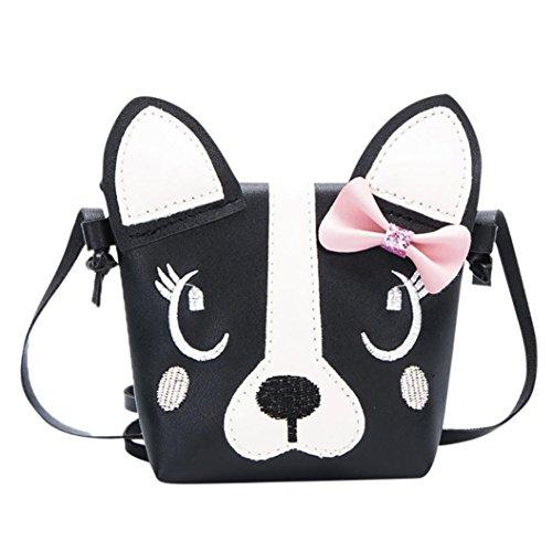 Umhängetasche Hund Mädchen Handtasche Mini Zarupeng Bag Bogen Schwarz Nette Messenger Kinder YxRTf