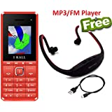 I KALL K2180 Dual Sim 1.8 Inch Display Mobile With Bluetooth, Dual Camera, GPRS, Flash Light,1000 Mah Battery Capacity And 1 Year Manufacturer Warranty With MP3/FM Player Neckband Free- Red