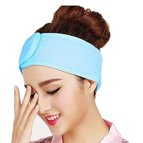 Westeng Femmes Bandeau de Cheveux en coton Bandeau Serre-tête pour Soin Visage Maquillage Bain Douche - Bleu