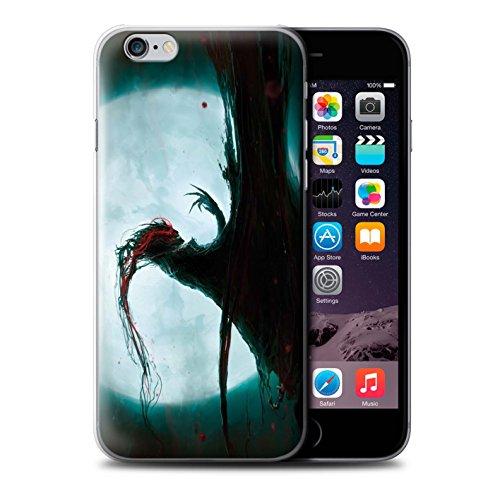Offiziell Chris Cold Hülle / Case für Apple iPhone 6S+/Plus / Gehörnter Dämon Muster / Dämonisches Tier Kollektion Dramargu/Vollmond