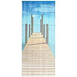 "'bambú Puerta cortina de bambú Cortina Cortina para puerta ""Bridge aprox. 90x 200cm"