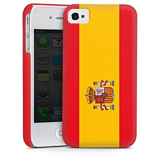 Apple iPhone 5s Housse Étui Protection Coque Espagne Drapeau Ballon de football Cas Premium mat