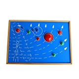 Generic Wooden Montessori Material - Nine Planets Map