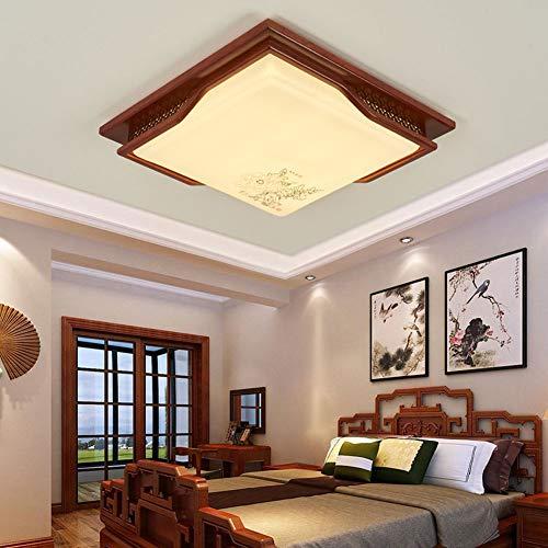 LED Deckenleuchte, Wohnzimmer Schlafzimmer Massivholz Innenbeleuchtung-55 * 55 cm