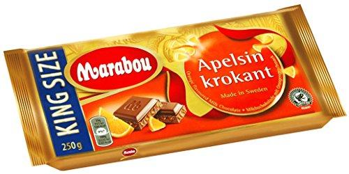 Marabou Apfelsine Krokant, 5er Pack (5 x 250 g)